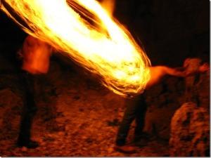 Fire flogging