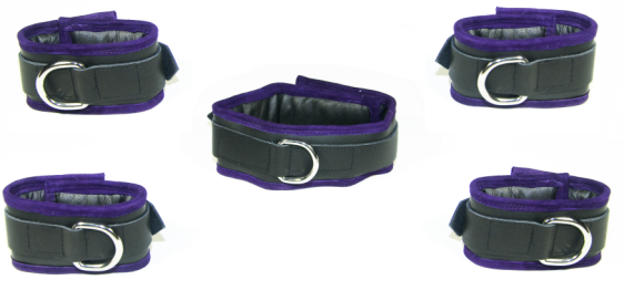 Purple edged restraint set