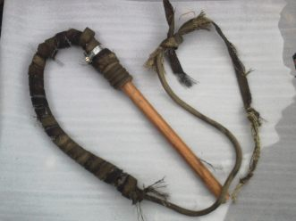 Home-made fire whip